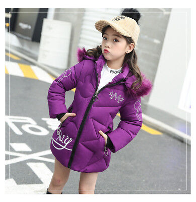 Kids Winter Coats Jacket for Girls Costume Thick Warm Hooded Cotton Outerwear ](Outerwear For Girls)