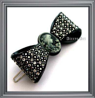 Rena Chris Korea Swarovski Bow Crystal Quality Pointpin Hairpin Hair Accessories