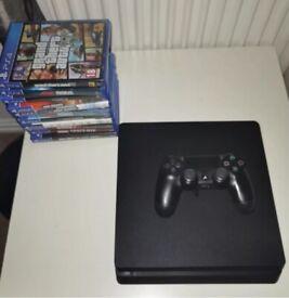 PS4 Slim 500gb + 12 Games + Pad