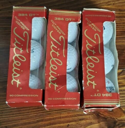 3 Sleeves 3 Balls Titleist 384 DT Golf Balls New old stock