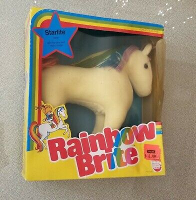 Vintage 1983 Rainbow Brite STARLITE Unicorn Horse 12