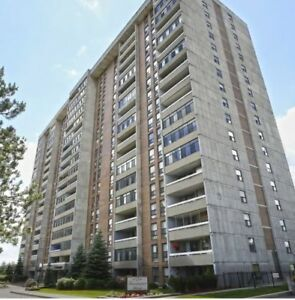 2 bed room+ 1.5 bathroom, nice and clean 8th floor Apt. for rent