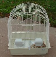 Bird Cage wtih perches, dishes, toy, nest