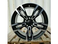 """NEW 18"""" BMW GT M SPORT ALLOY WHEELS X4 BOXED 5X120 STAGGERED E90 F30 F10 3 5 SERIES"""