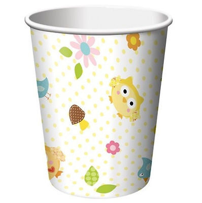 Happi Tree Baby Shower Sweet Baby Owl Decor 9 oz Paper Hot Cold Cups 8 ct](Halloween Dessert Decorations)