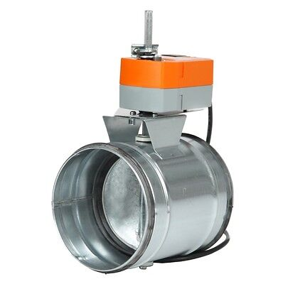 Absperrklappe dichtschließend mit Belimo TF230 NW100 Dunstabzug AKDL100-TF230