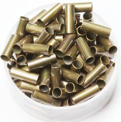 Vintage Brass Tube Spacer Beads  Inside Diameter 3 mm ,Length 5 mm, 100 P.