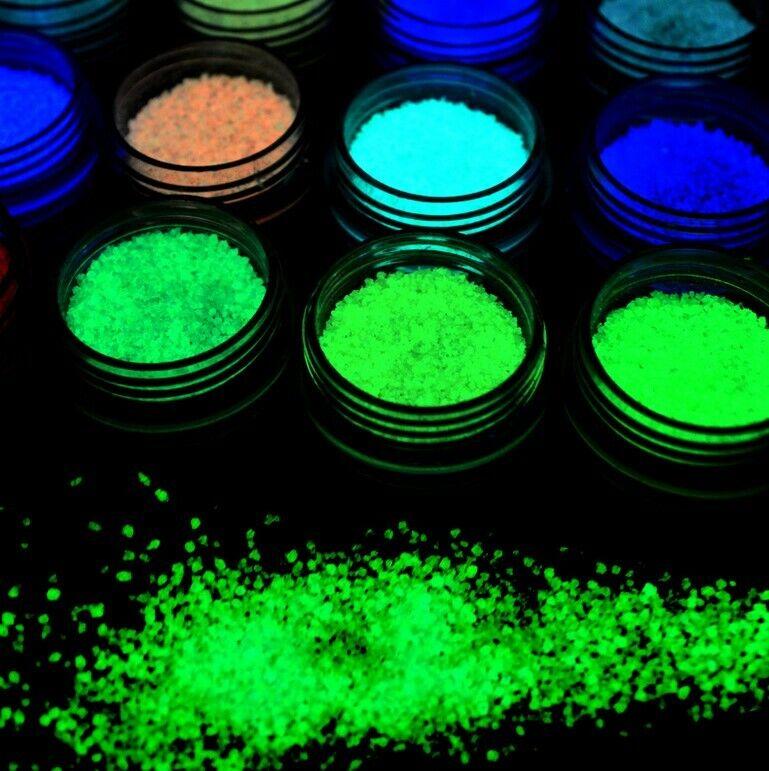 Luminous Powder Resin Pigment Dye UV Resin Epoxy DIY 10 Colors Halloween
