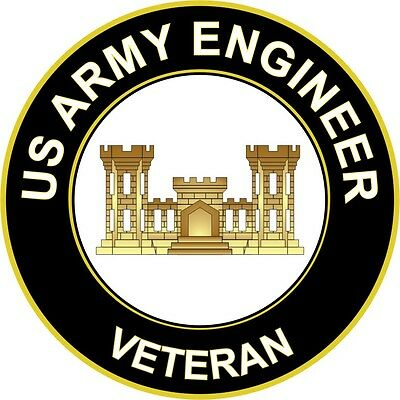 "Army Engineer Veteran 5.5"" Sticker / Decal"