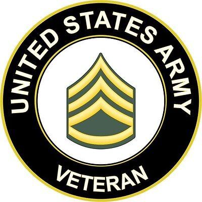 "Army Staff Sergeant E-6 Veteran 5.5"" Sticker / Decal"