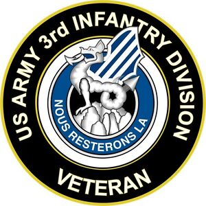 Army 3rd infantry ision unit crest veteran 5 5 quot sticker decal