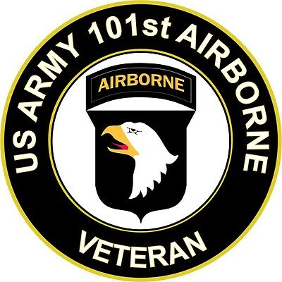"Army 101st Airborne Division Veteran 5.5"" Sticker / Decal"