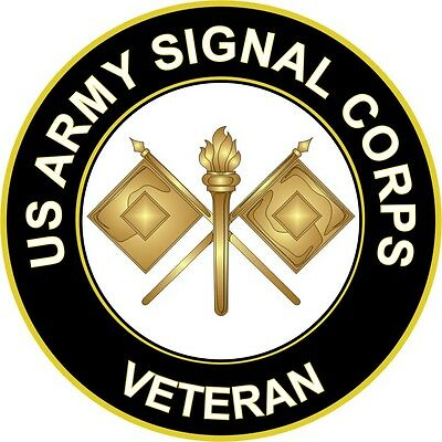 "Army Signal Corps Veteran 5.5"" Sticker / Decal"