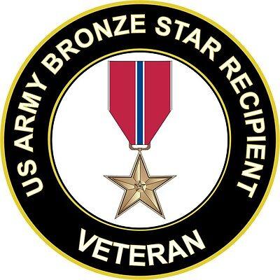 "US Army Bronze Star Recipient 5.5"" Sticker / Decal 'Officially Licensed'"