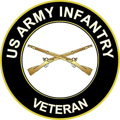 """Army Infantry Veteran 5.5"""" Sticker 'Officially Licensed'"""