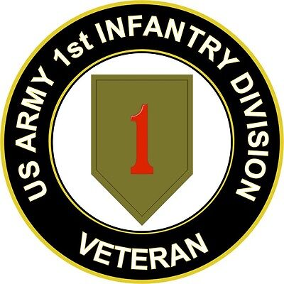 """Army 1st Infantry Division Veteran 5.5"""" Sticker / Decal"""