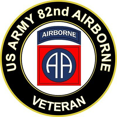 "US Army 82nd Airborne Veteran 5.5"" Sticker / Decal"