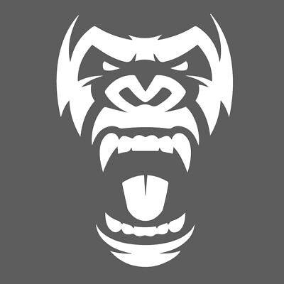 Gorilla Roar Face Head Decal Window Bumper Sticker Car Zoo Animal Ape Monkey - Gorilla Roar