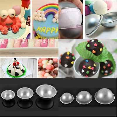 Half Round Cake Pan (2X Ball Shaped Round Half Sphere Cake Pan Tin Fondant Decorating Mould Cake)