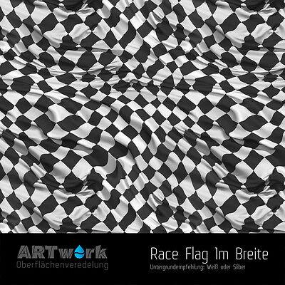 Flag Transfer (Wassertransferdruck Folie WTD Starterset 1m Race Flag + Aktivator )