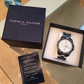 100% Genuine Tommy Hilfiger Women's Analogue Watch with White Dial Analogue Display 1781585
