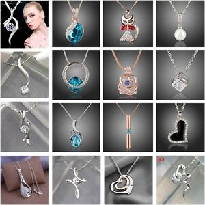 Wholesale-925Solid-Sterling-Silver-Jewelry-Pendant-Necklace-Chain-Jewellery-xmas