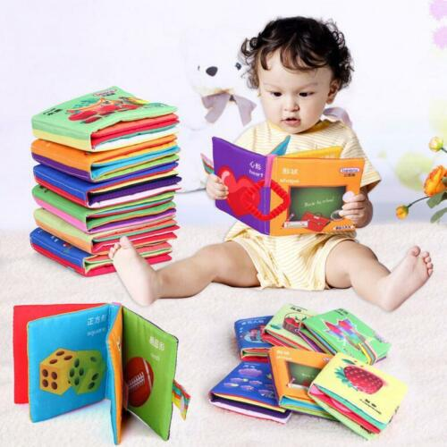 US Soft Cloth Baby Kids Intelligence Development Learn Picture Cognize Books