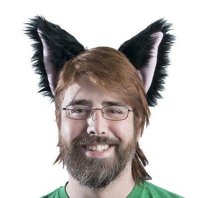Dog Ears Halloween (PAWSTAR Dog Ears Headband - Furry Halloween Costume Black Pink)
