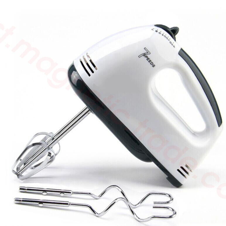 7-Speed electric hand mixer beater blenderb for brownies,cream,butter,potatoes