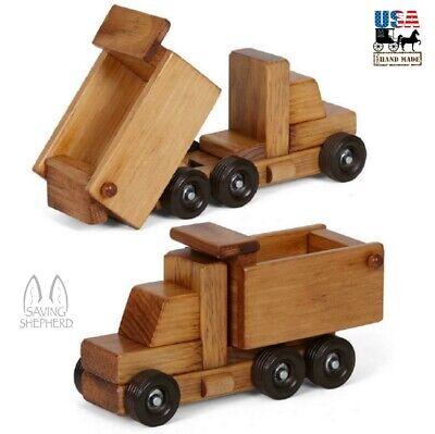DUMP TRUCK - Working Wood Construction Toy Amish Handmade Ca