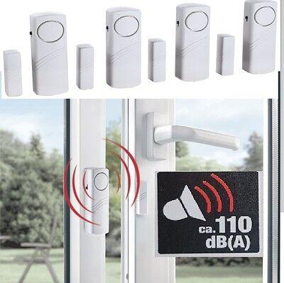 4x Fensteralarm Türalarm Pentatech Alarmanlage Fenstersicherung Alarm Laut 110dB