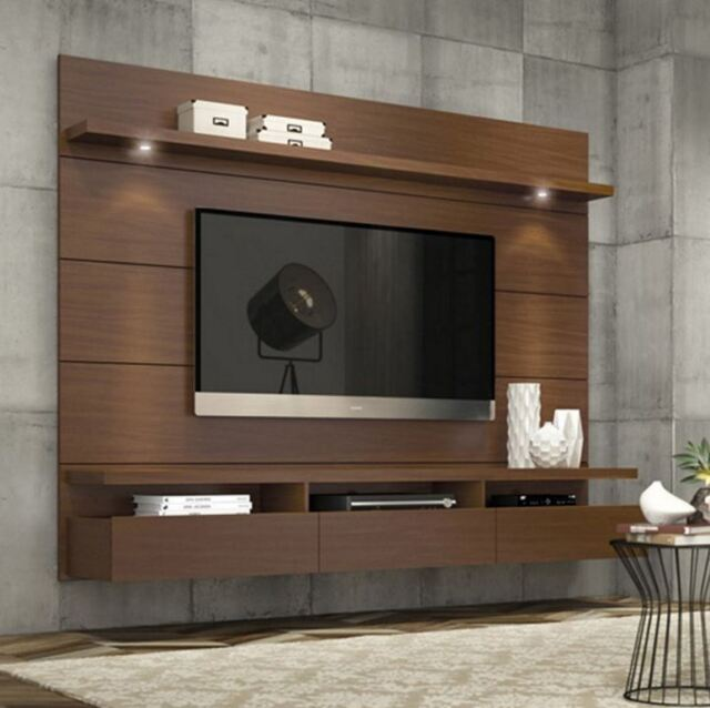 wall mount entertainment center shelves centers furniture amazon modern stand media console mounted brown