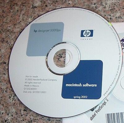 Original CD for HP DesignJet 5500/5500ps Plotter. Apple Mac.