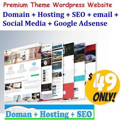 Unlimited Page Wordpress Premium Web Site Free Domain Hosting Seo Website Design