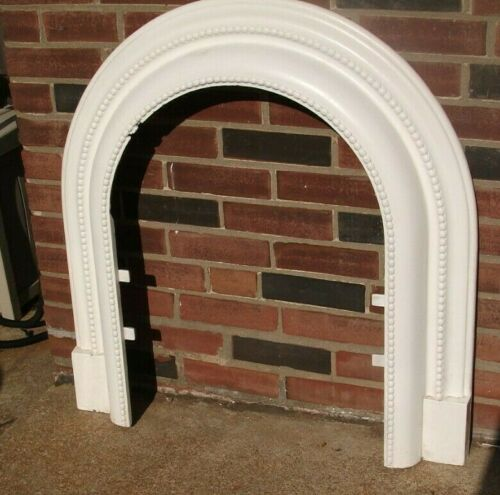 Antique Cast Iron Fireplace Surround Arch-Beautiful, Clean, White Both sides