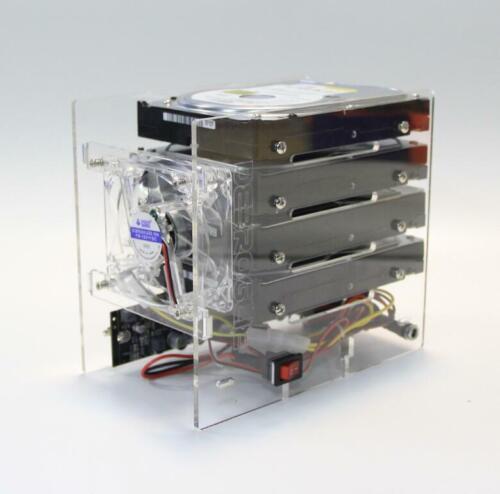 DIY hard disk expansion bracket HDD 3.5 NAS 4 disk External racks support power
