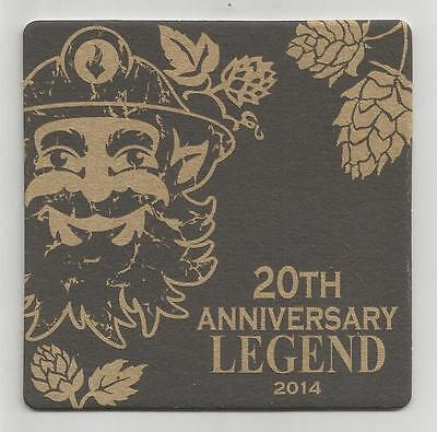 """Tommyknocker 20th Anniversary Legend 2014 COLO US Beer Coaster 3.5"""" square NEW"""
