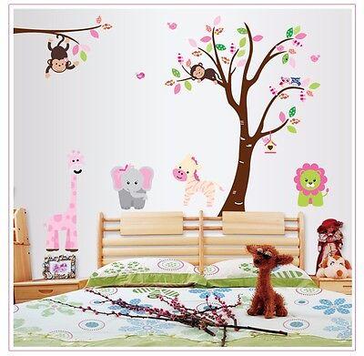 Wandtattoo Wandsticker Aufkleber Tiere Kinder Wald Sticker Wald Zimmer Bär Baum