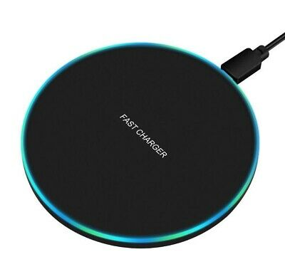 10W Wireless Charger Qi Metal Charging Pad for Apple iPhone Samsung Galaxy