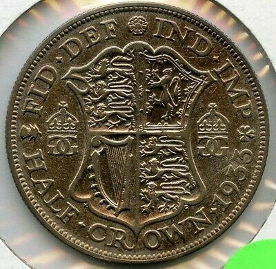 1933 Great Britain Silver Half Crown - British King George V - RW576