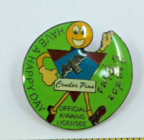 Kiwanis International Caudar Pins Have A Happy Day Official Licensee Pinback Pin