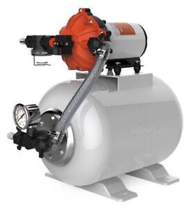 SeaFlo Marine Water Pump 12 V DC 60 PSI 5.5 GPM 2 Gallon Accumulator Tank System