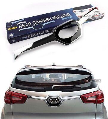 Rear Garnish Chrome Black Trunk Molding For KIA Sportage 2011 2013