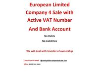 European Limited Company VAT registered Pre - Opened Business Bank Account