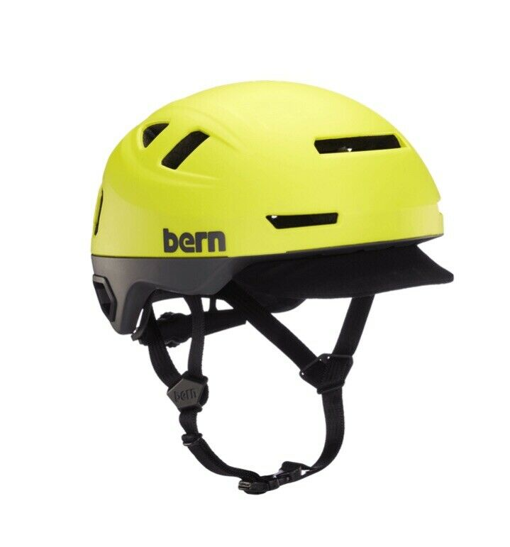 Bern Hudson Helmet BRAND NEW Sz LARGE Matte Hyper Green