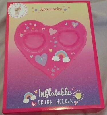 Monsoon Accessorize Heart BFF Inflatable Drink Holder Bnib Pool Hot Tub Best