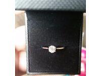 9 carat White gold, half carat diamond Engagement Ring