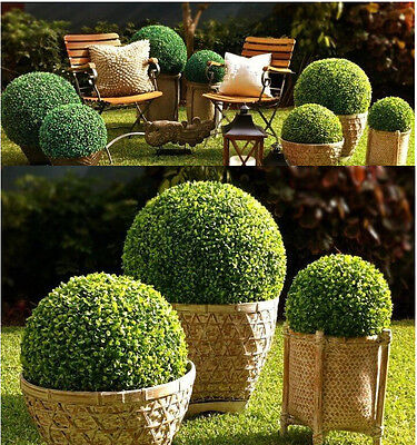 Fake Boxwood Wreath (3*36cm ARTIFICIAL BOXWOOD TOPIARY FAUX BUXUS BALLS HOUSE HOME PARTY OFFICE)