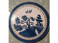 Royal Doulton Booth Real Old Willow cake stand