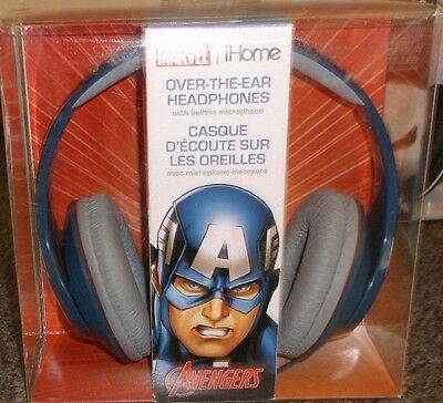 Marvel Captain America Ihome Over The Ear Headphones New Nib Kids Volume Control